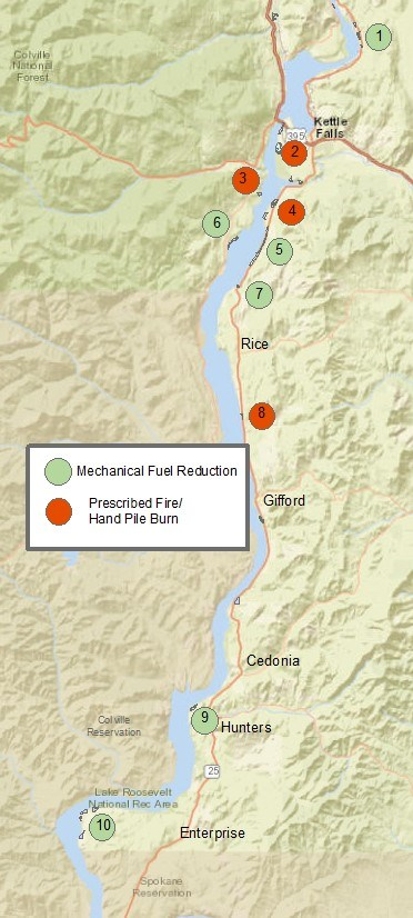 Spokane Wildfire Map.Fire Management Lake Roosevelt National Recreation Area U S