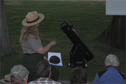 J. Elvidge conducts an astronomy program