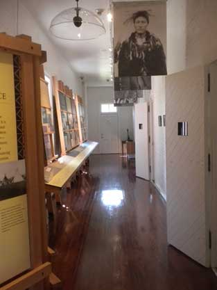 Fort Spokane Visitor Center and Museum main hallway.