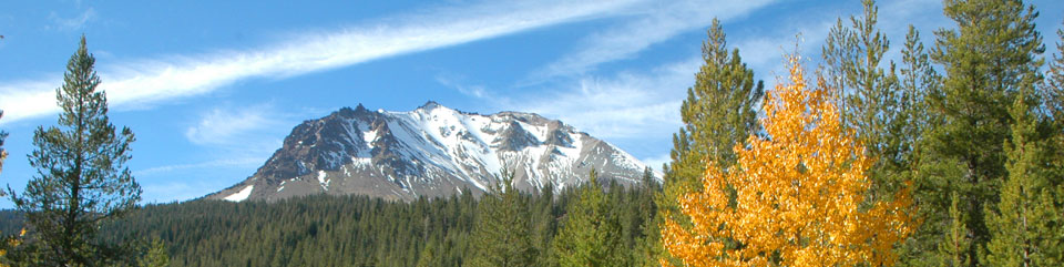 Lassen Peak from Hat Creek