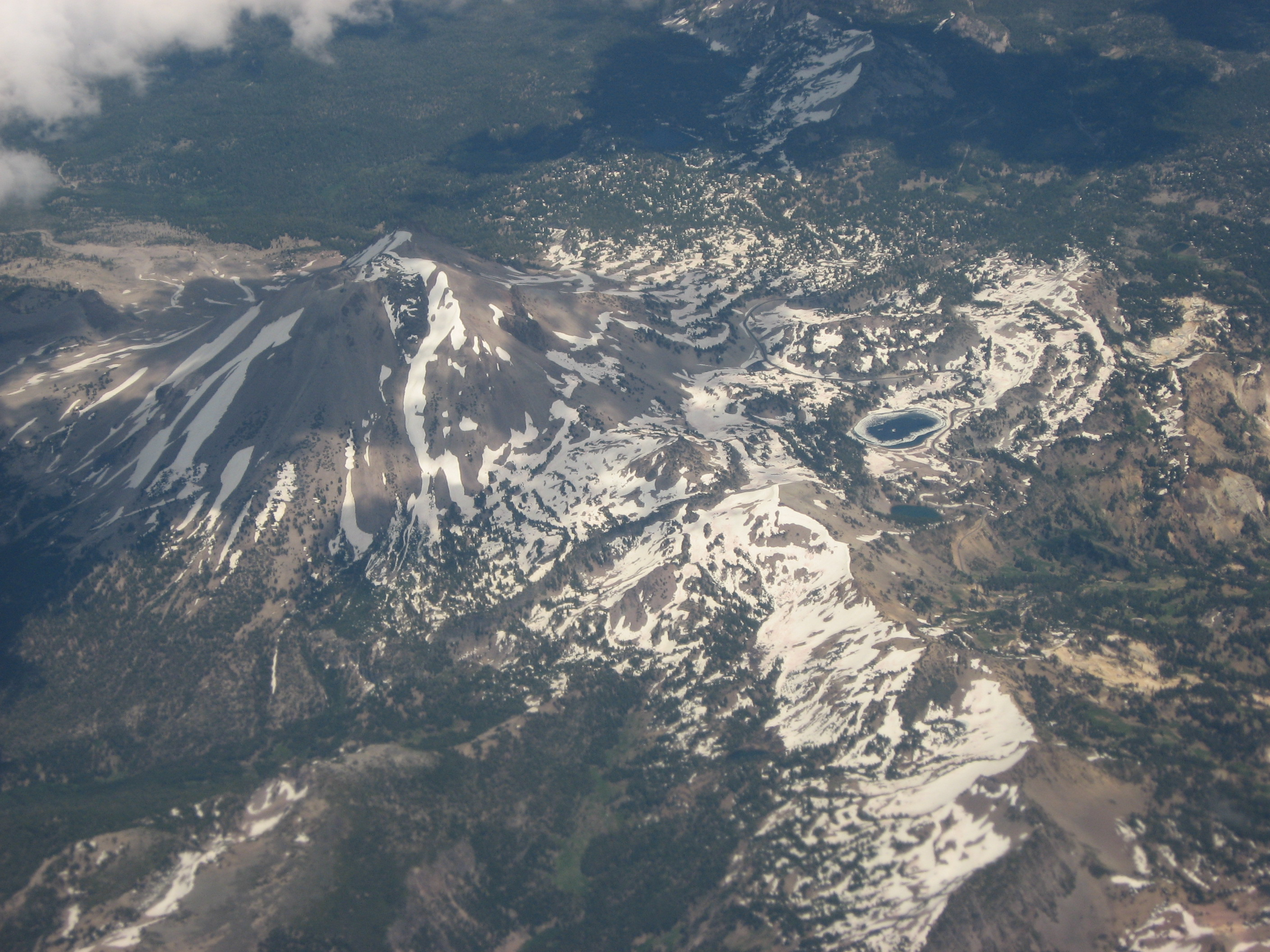 Lassen Peak from the air.