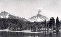 B.F. Loomis Historic Photo of Lassen in Eruption