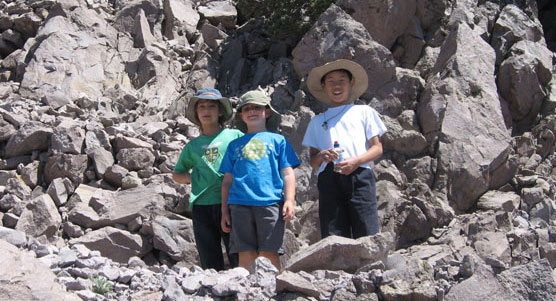 Young hikers on the Lassen Peak trail.