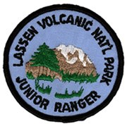 Lassen Volcanic National Park Junior Ranger patch