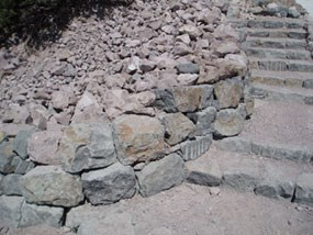 Stone work on the Lassen Peak trail