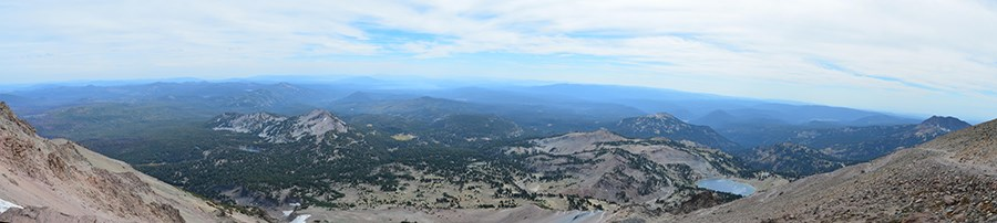 View to the south from the top of Lassen Peak