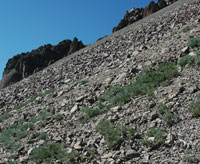 Talus slopes on Lassen Peak