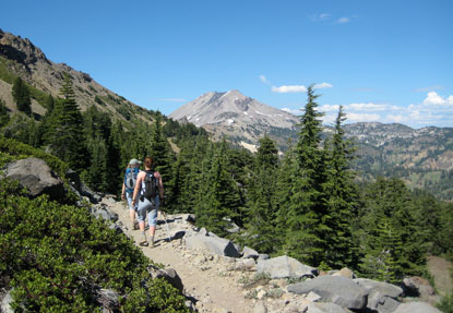 Hikers on Brokeoff Mountain trail