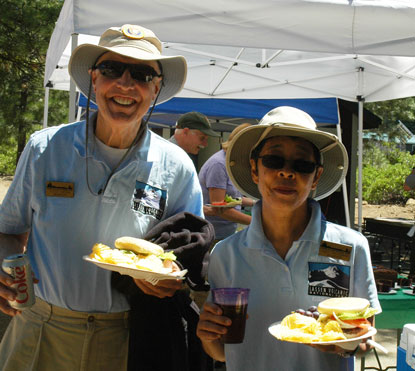 Volunteers Steve and Judy Gibson at the park volunteer appreciation barbecue.