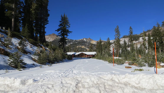 Snow-covered Lassen Volcanic National Park Highway