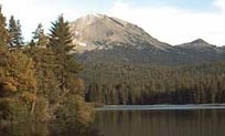 View of Manzanita Lake and Lassen Peak