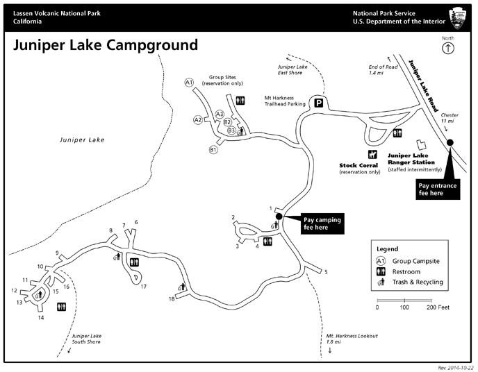 Juniper Lake Campground  Lassen Volcanic National Park US