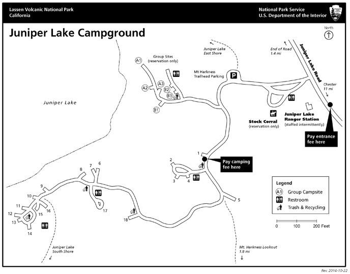 Juniper Lake campground map