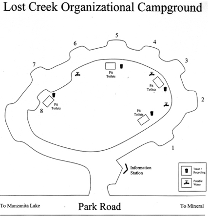 Map of Lost Creek Group Campground
