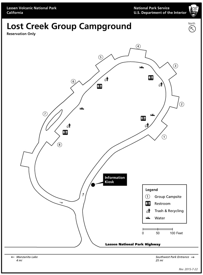 Lost Creek campground map