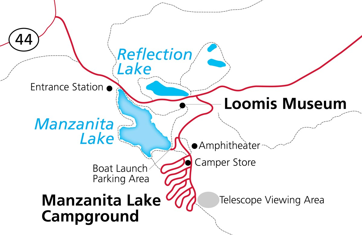 Map of Manzanita Lake Area for the Lassen Dark Sky Festival