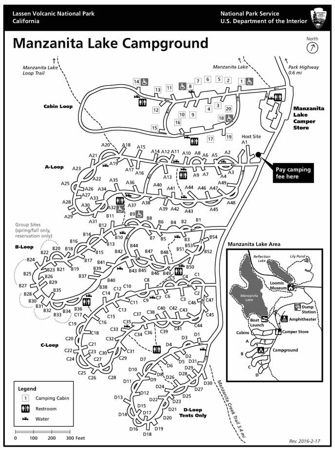 Manzanita Lake campground map