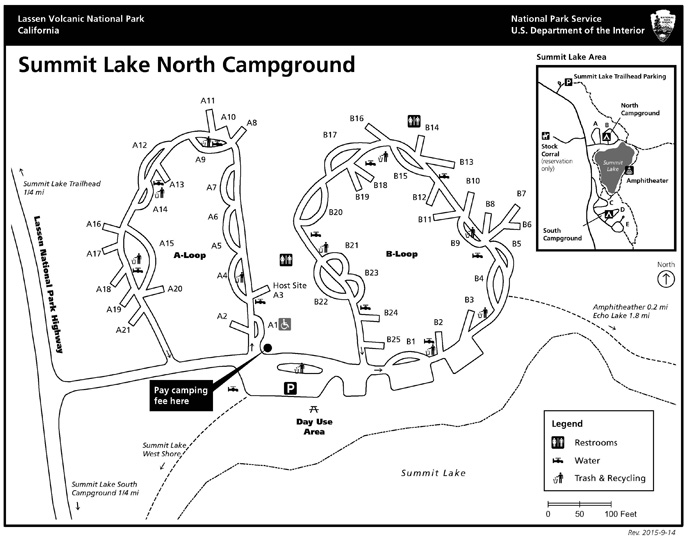North Summit Lake campground map
