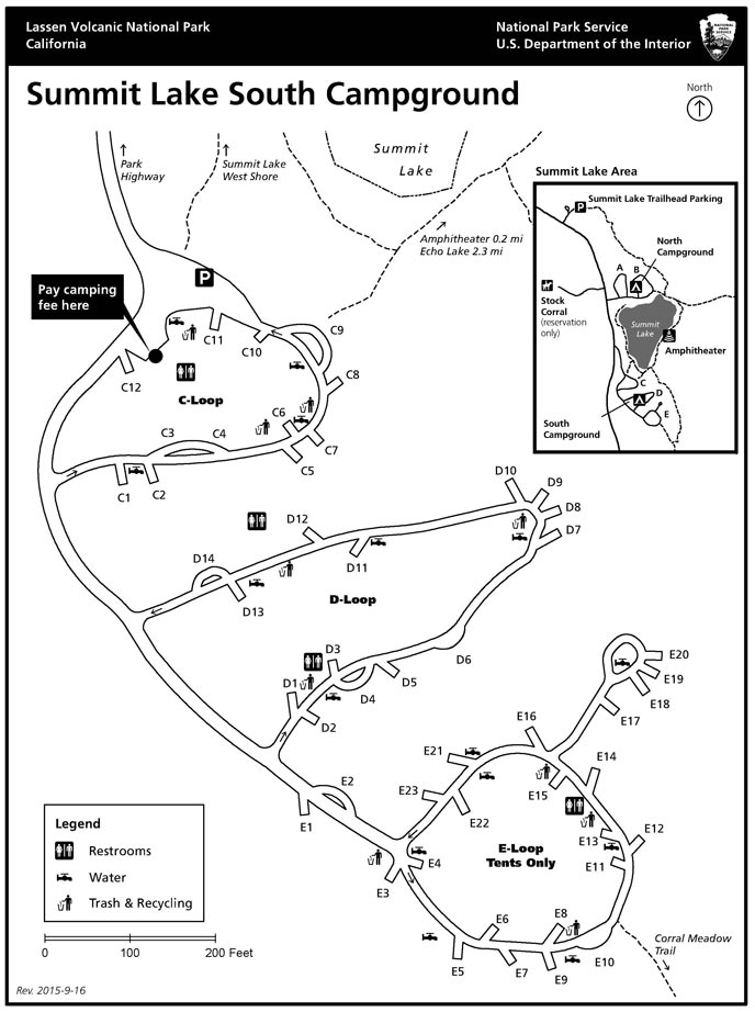 South Summit Lake campground map