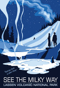 "Lassen Astronomy poster, ""See the Milky Way"""