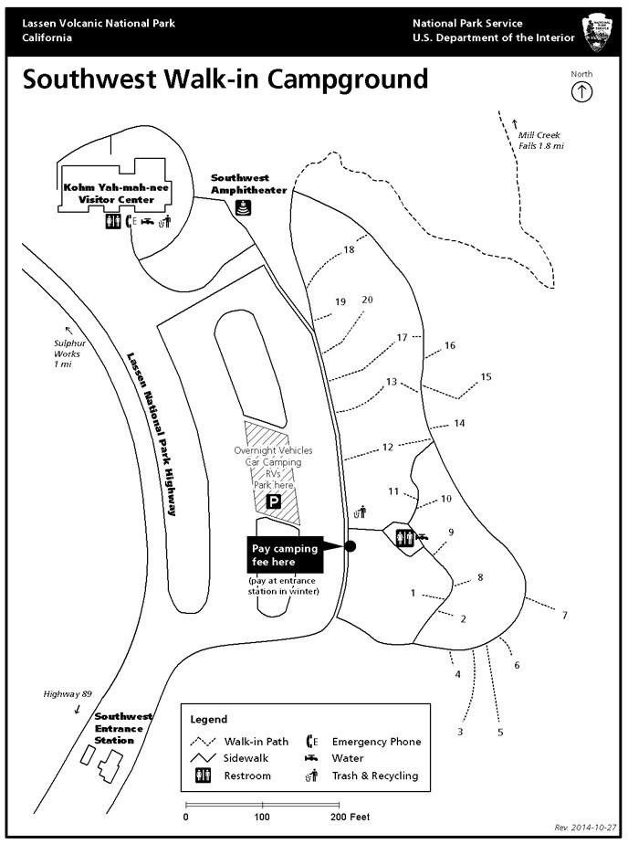 Southwest campground map