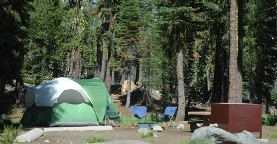Campsite at Summit Lake Campground