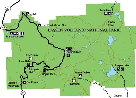 Campgrounds of Lassen Volcanic National Park