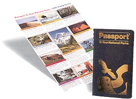 National Parks Passport book and stamps