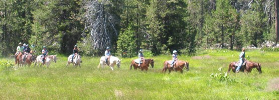 Horseback riders in Warner Valley