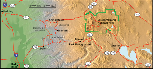 Maps Lassen Volcanic National Park US National Park Service - Map of us volcanoes