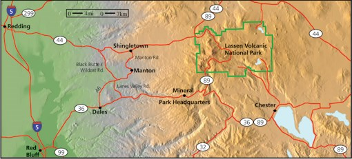 Lassen Area Map
