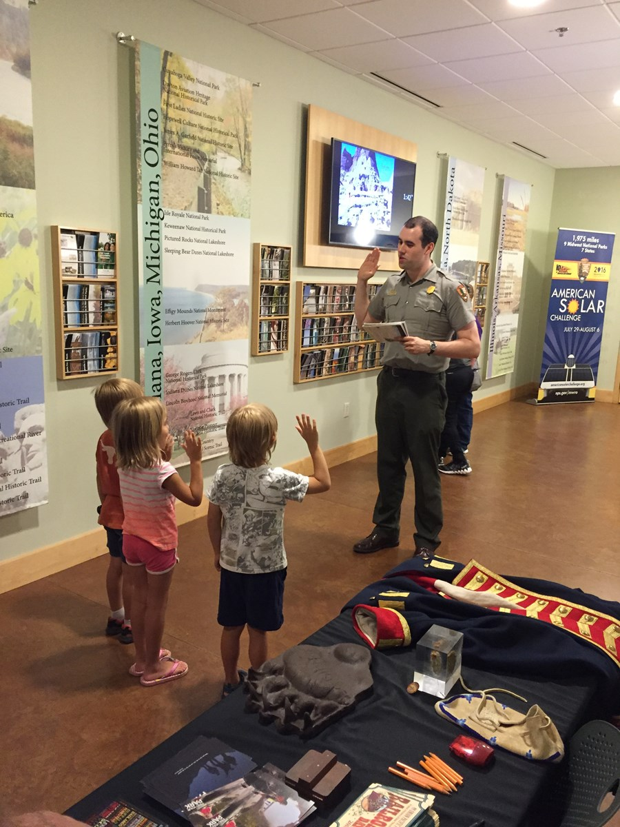 Ranger swears in new junior rangers