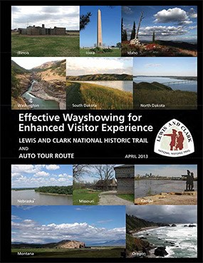 photographs from across the trail used for the cover of a wayshowing report