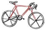 Sketch of a bicycle