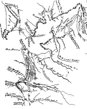 Clark's 1806 map of the Oregon Coast