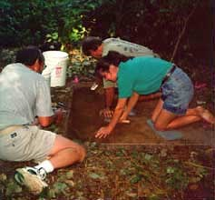 1996 excavation at Fort Clatsop