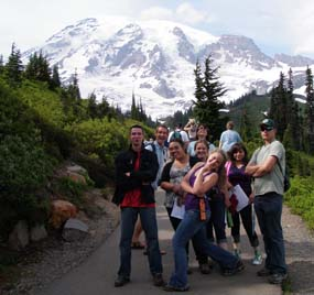 YCC students at Mount Rainier.