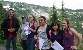 Youth Conservation Corps Students at Mount Rainier National Park
