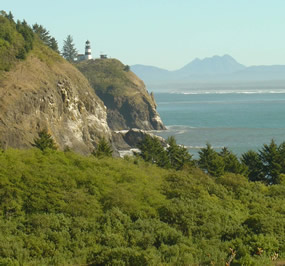 Cape Disappointment Light, as viewed from McKenzie Head