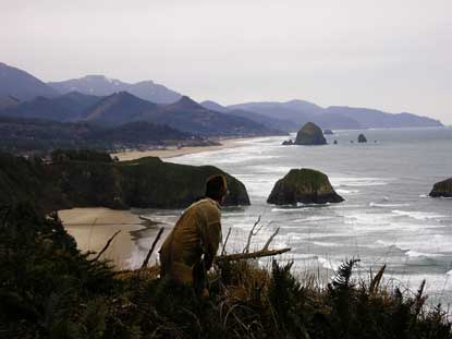 William Clark overlooks what is now Cannon Beach, Oregon