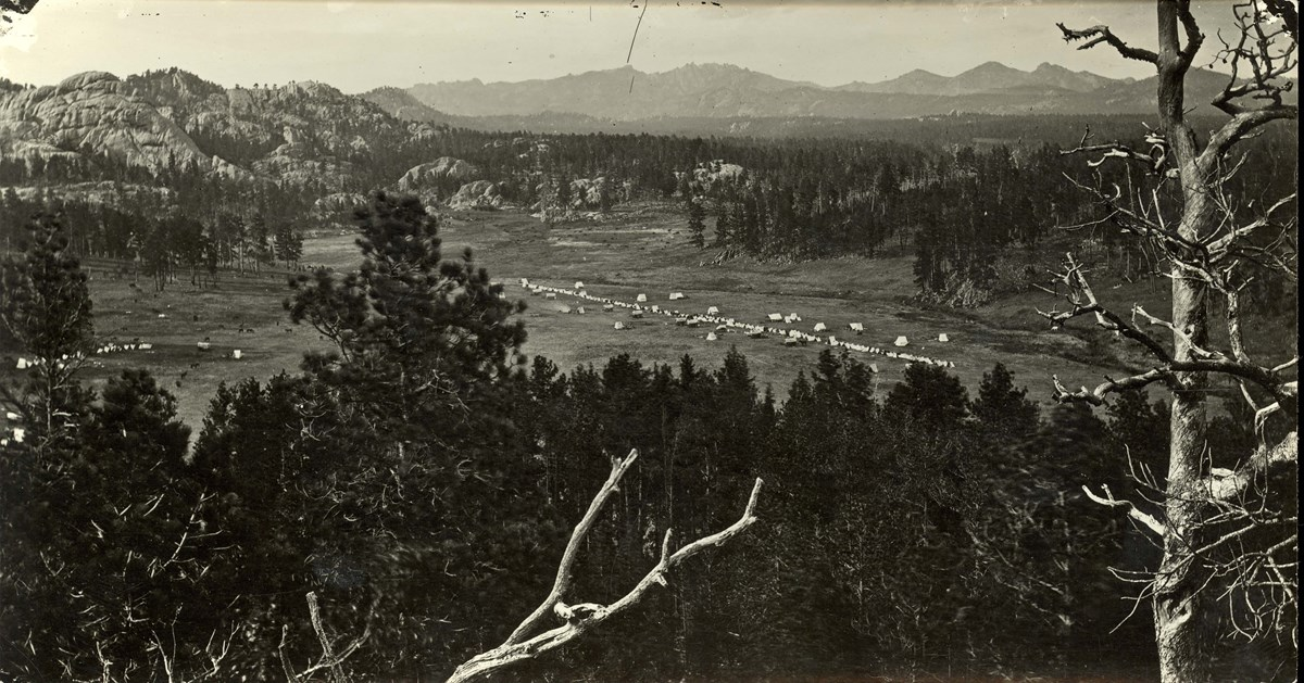 Custer's camp during the Black Hills Expedition on  French Creek.