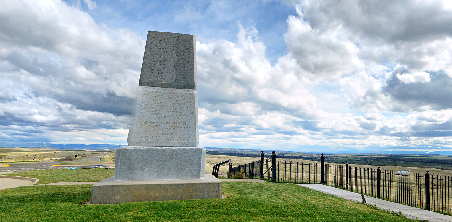 7th memorial on top of Last Stand Hill.