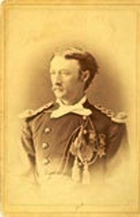 Sepia portrait of Captain Tom Custer.
