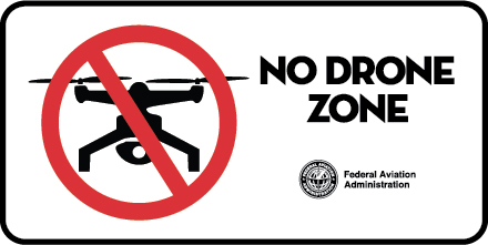 Photo: Drones are prohibited at National Park sites.