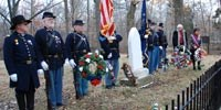 Lincoln Day wreath laying ceremony