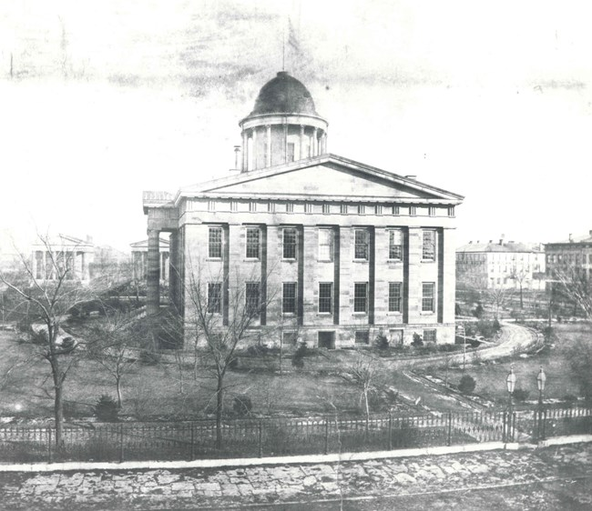 Old State Capitol looking east ca 1858