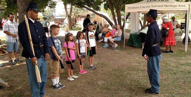 Summer 2015 USCT program at Illinois State Fair