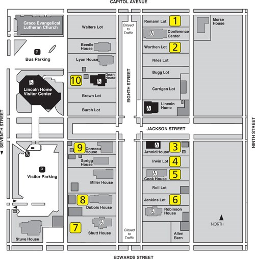 Site Map Digital: Lincoln Home National Historic Site (U