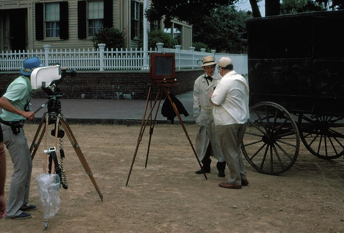 "Filming of ""Mr. Lincoln's Springfield"" 1976"