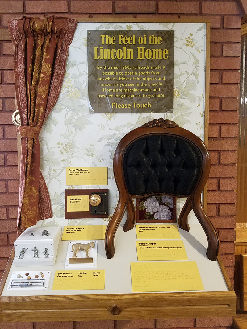 Lincoln Home Tactile Exhibit